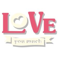 love艺术字元素