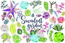 手绘涂鸦植物
