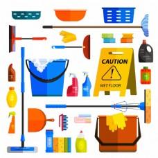 清洁用品扁平化图标图片1