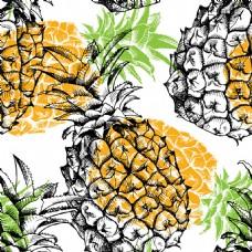 卡通菠萝背景图片1