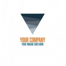 创意抽象图案三角形标志
