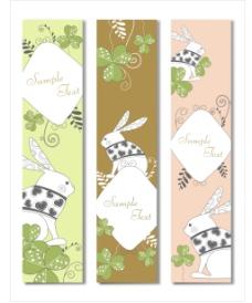 兔子装饰背景banner