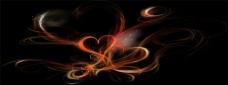 浪漫爱心黑色底纹背景图