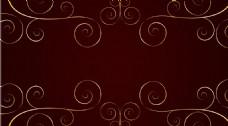 褐色花纹线条背景