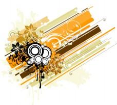 线条花纹素材背景