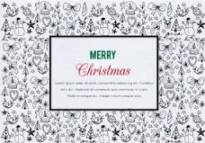 手绘圣诞节冬季背景素材