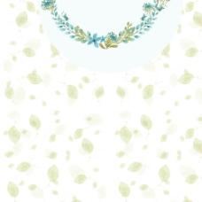 清新叶子花朵背景