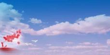 蓝天白云创意海报设计