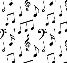 音乐笔记无缝图案