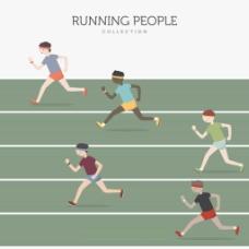 男子跑步比赛背景