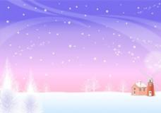 寒冷雪花大风背景