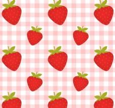 无缝草莓图案