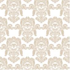 米色花纹装饰图案白色背景