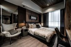 港式时尚卧室背景墙设计图