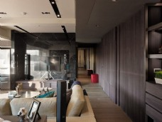 港式简约客厅背景墙设计图