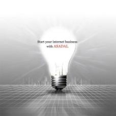 创意节能灯泡广告设计PSD素材