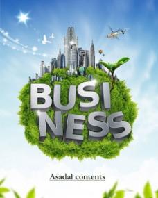 创意绿色生态城市PSD素材