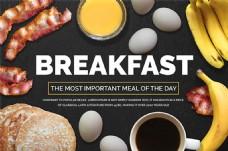 营养早餐美食宣传海报