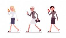 商务女人矢量素材