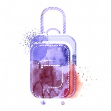 水墨旅游箱图片