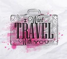 字母旅游箱图片