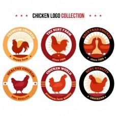创意公鸡标志logo设计