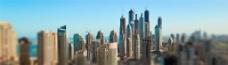 繁华城市建筑背景图