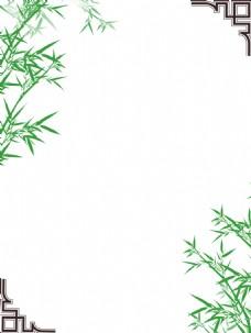 唯美古典边框竹子背景图