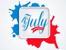美国独立日抽象装饰图案背景