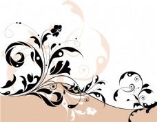 花纹剪影图案设计素材