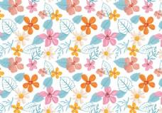 唯美小清新彩铅手绘花卉背景