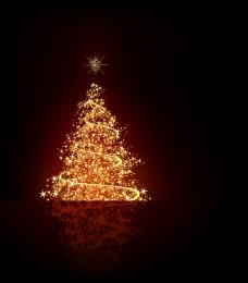 矢量光斑圣诞树背景