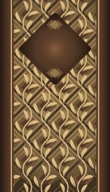 咖啡色花纹背景