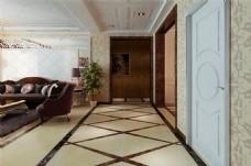 现代别墅客厅装修效果图