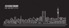 城市地标剪影