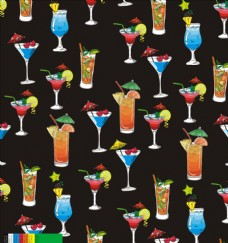 夏日海滩果汁杯子图案设计