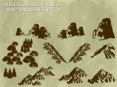 山上的树木PS笔刷下载