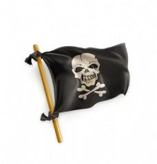卡通海盗旗EPS