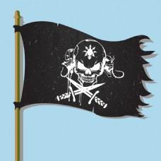 手绘海盗旗
