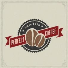 复古咖啡标签设计矢量素材
