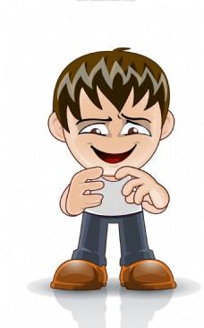 矢量儿童表情EPS