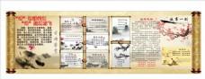 语文科组古诗词水墨宣传栏展板
