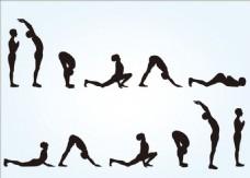 十二款瑜伽动作元素集