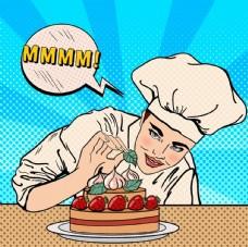 首席厨师矢量