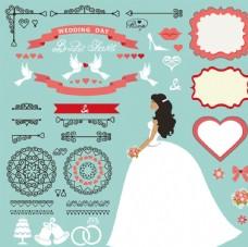 婚礼花卉矢量素材