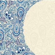 蓝色欧式花纹