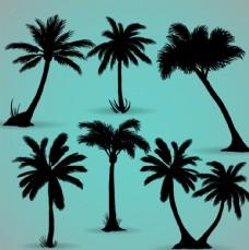 椰子树剪纸