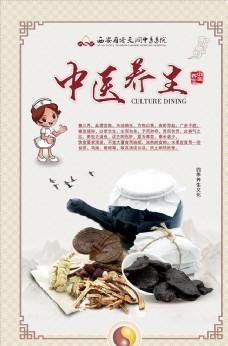 中医养生中国风医院展板