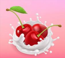 水果牛奶矢量