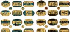 金色瓶标 金色标签